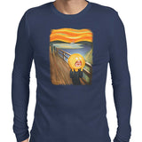 rick and morty screaming sun long sleeve tee navy