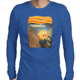 rick and morty screaming sun long sleeve tee blue