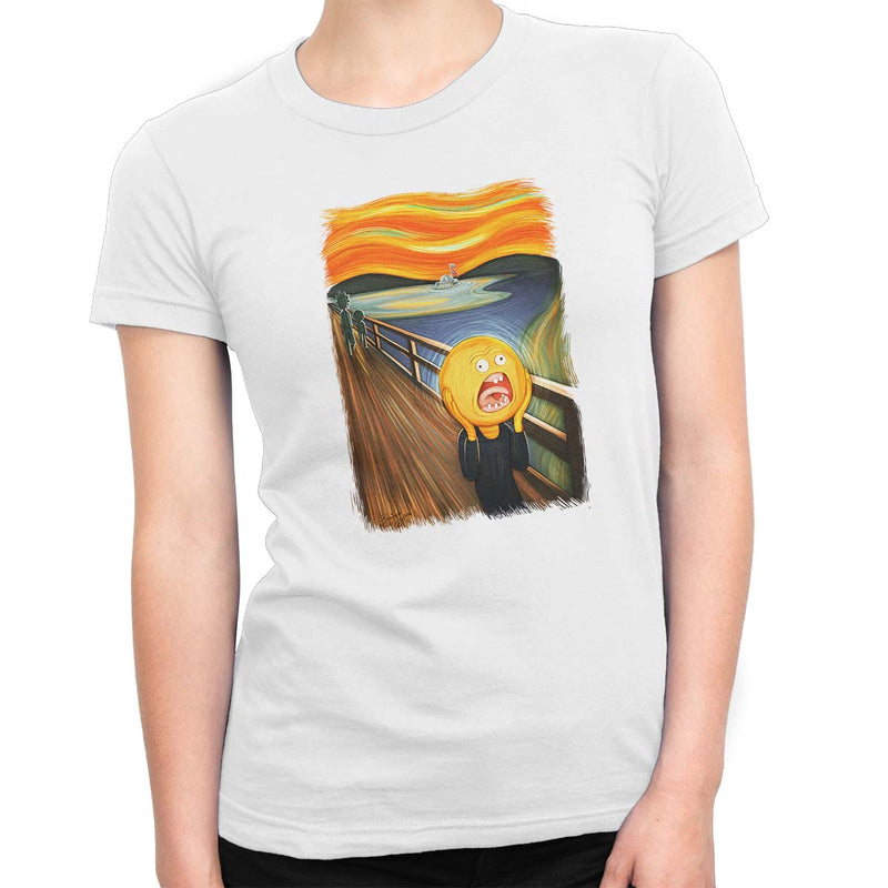 rick and morty screaming sun tshirt white