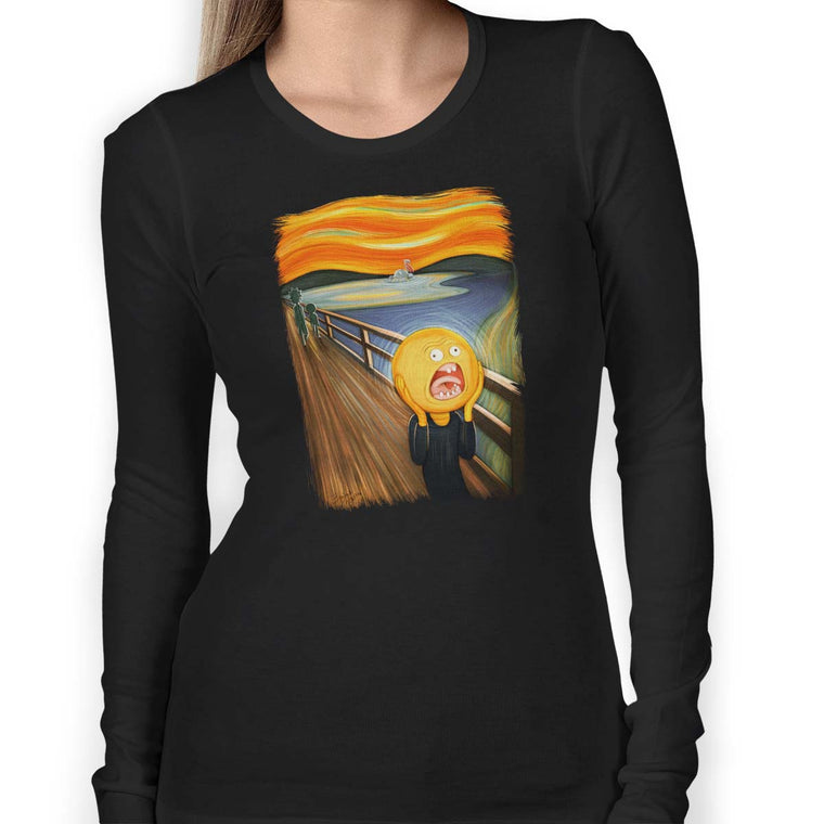 Rick & Morty Screaming Sun Women's Long Sleeve Tee