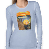 rick and morty screaming sun long sleeve light blue