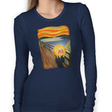 rick and morty screaming sun long sleeve navy