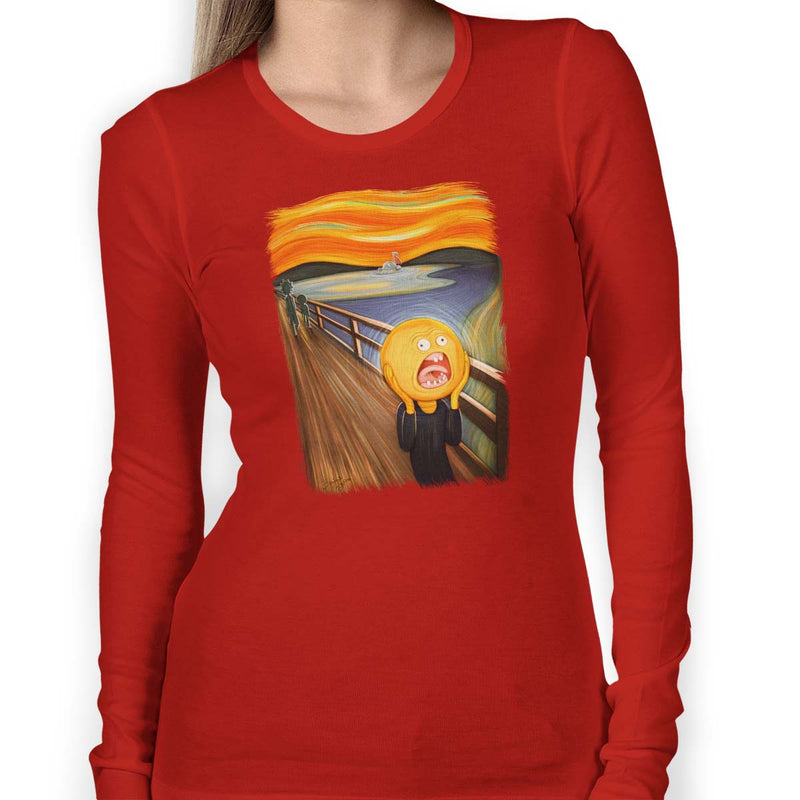 rick and morty screaming sun long sleeve red