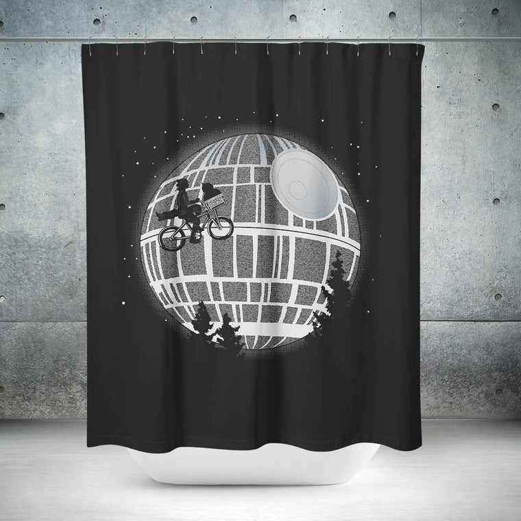 Fly Me To The Death Star Shower Curtain