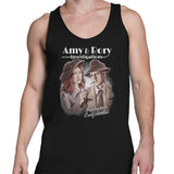 doctor who amy and rory men's tank top black