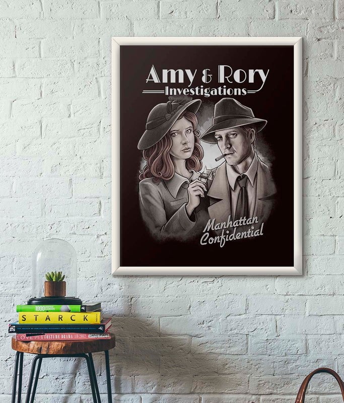 Doctor Who Amy & Rory P.I Poster