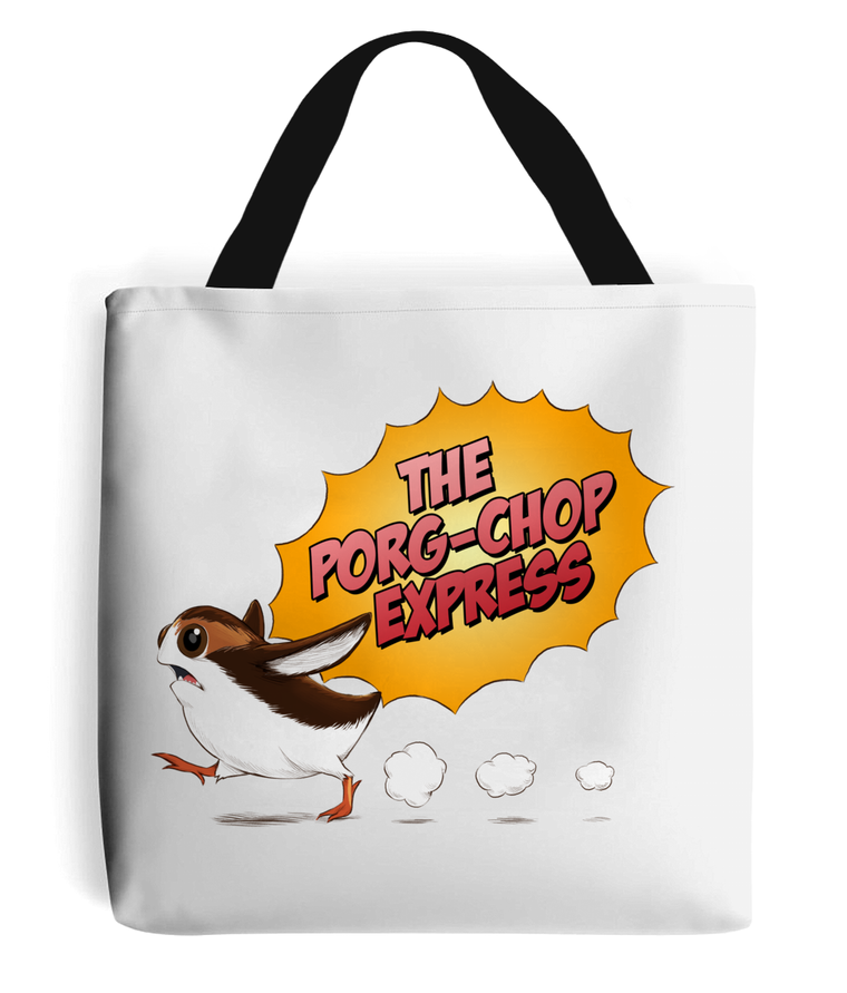 Porg-Chop Express Tote Bag