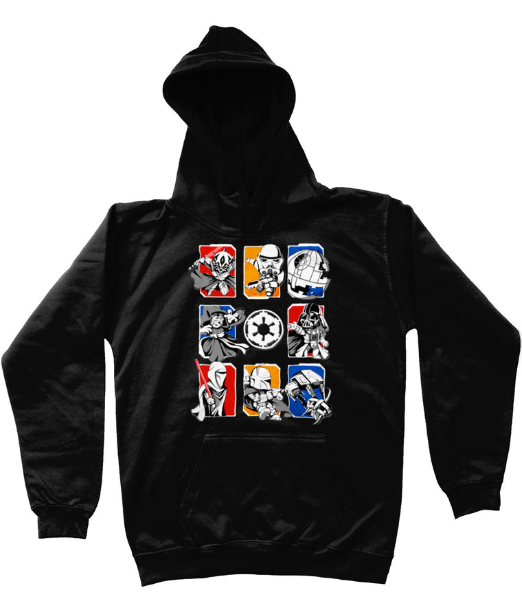 Dark Side/Light Side Chibi Kids Pullover Hoodie