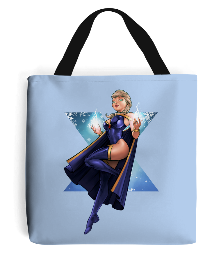 x-men vs frozen elsa tote bag natural