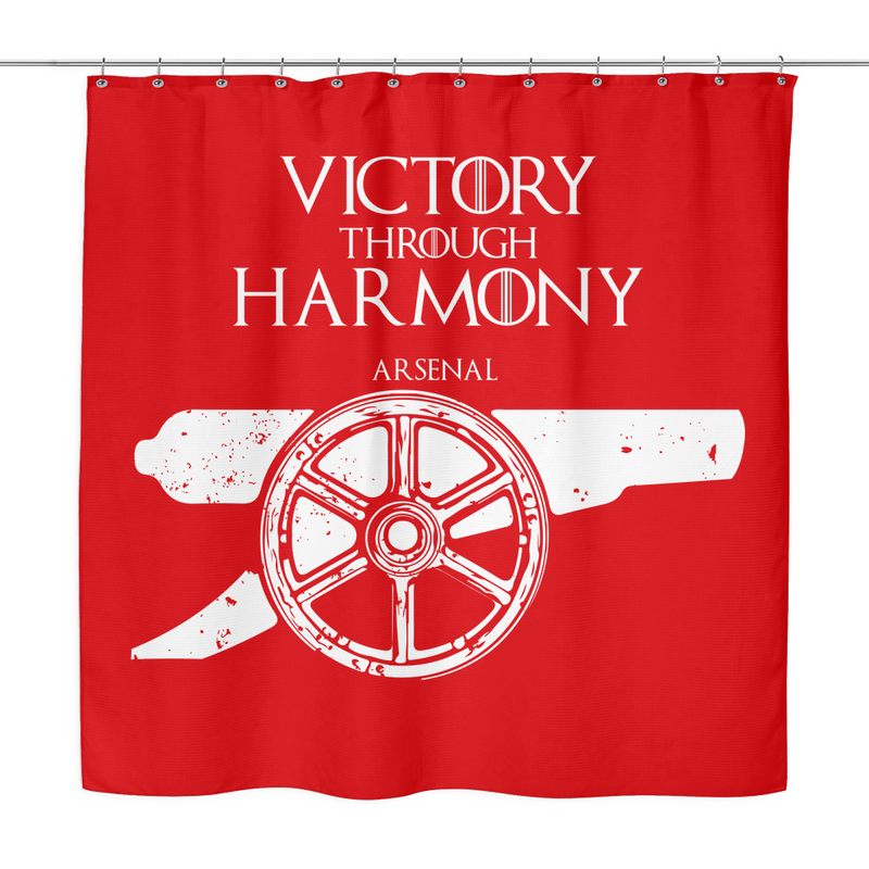 game of thrones house arsenal fc shower curtain