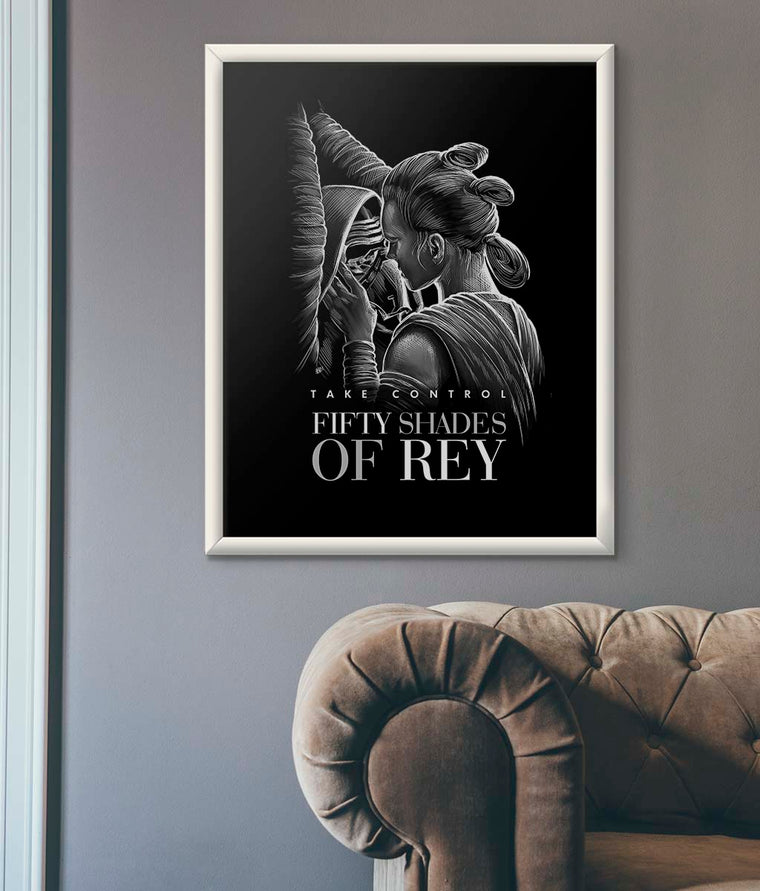 Star Wars Fifty Shades of Rey Poster