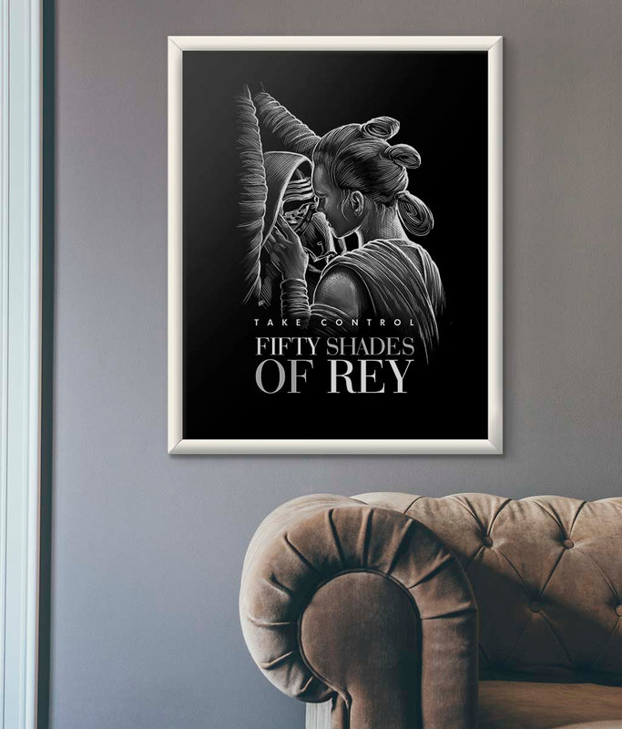 star wars fifty shades of grey poster