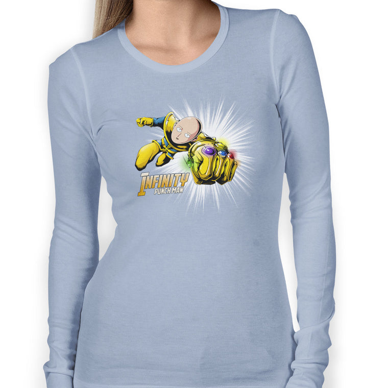 Infinity Punch Man Women's Long Sleeve Tee