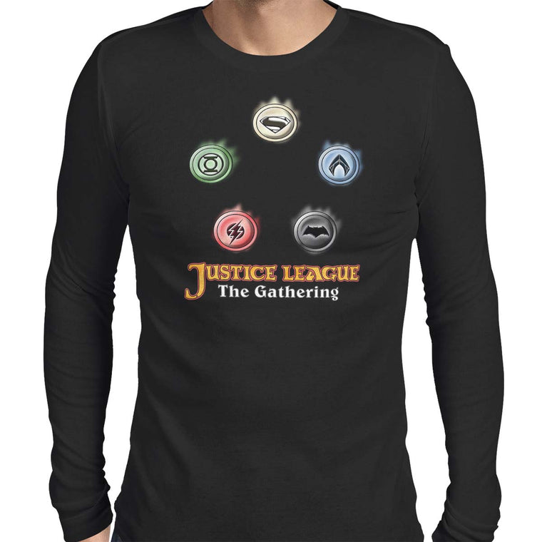 Justice League The Gathering Men's Long Sleeve Tee