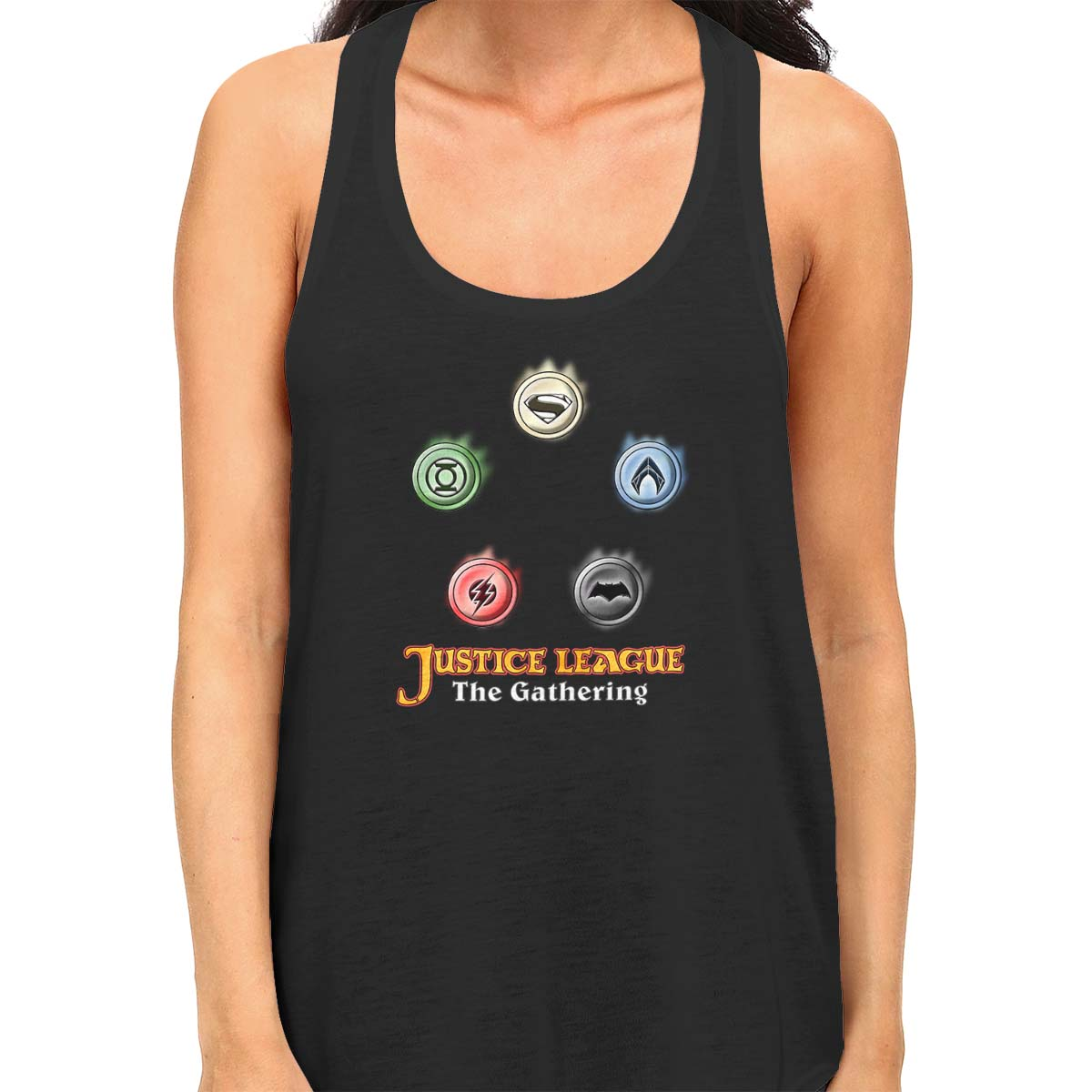 Justice League The Gathering Women's Racerback Tank