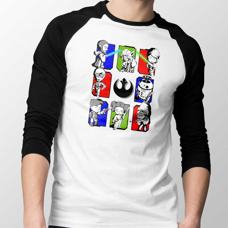 Dark Side/Light Side Chibi Unisex Baseball Tee