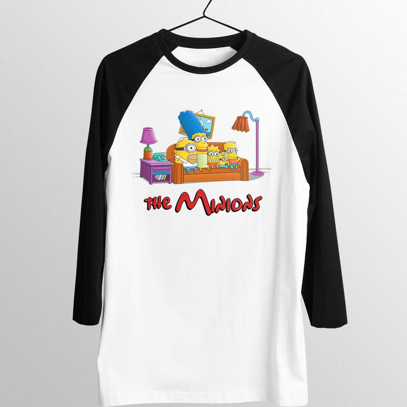 simpsons minions baseball tee