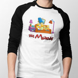 simpsons minions baseball tee mens