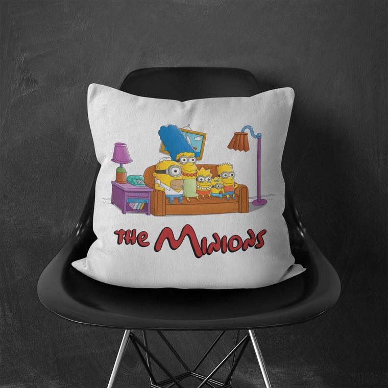The Simpsons vs The Minions Throw Cushion