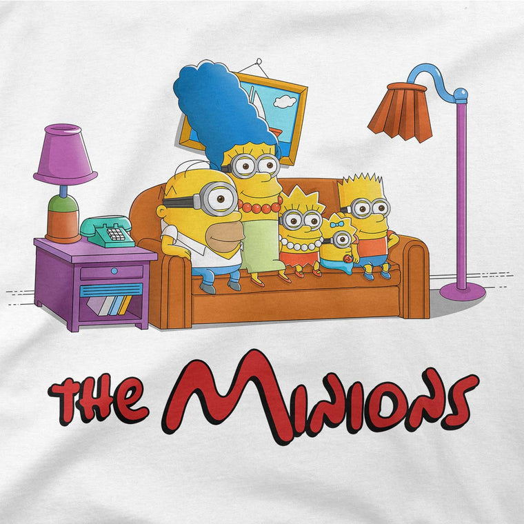 simpsons minions baseball tee womens