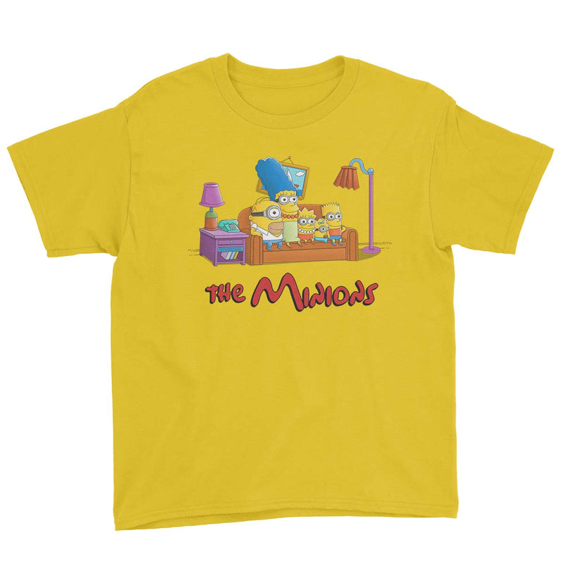 simpsons minions kids tshirt