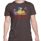 Simpsons minions mens t-shirt brown