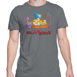 Simpsons minions mens t-shirt grey