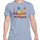 Simpsons minions mens t-shirt light blue