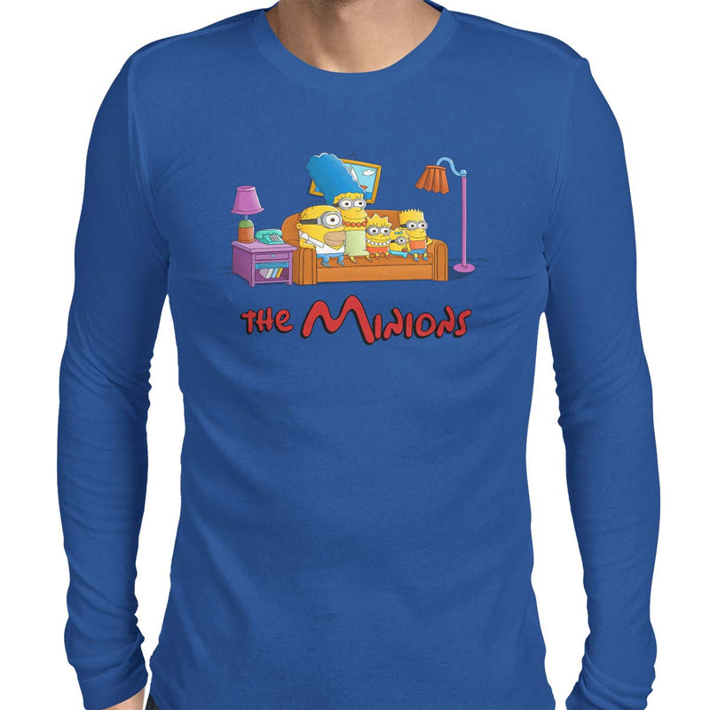 Simpsons minions mens tee blue