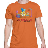 Simpsons minions mens t-shirt orange