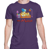 Simpsons minions mens t-shirt purple