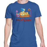 Simpsons minions mens t-shirt blue