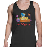 Simpsons minions mens tank top black