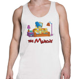 Simpsons minions mens tank top white