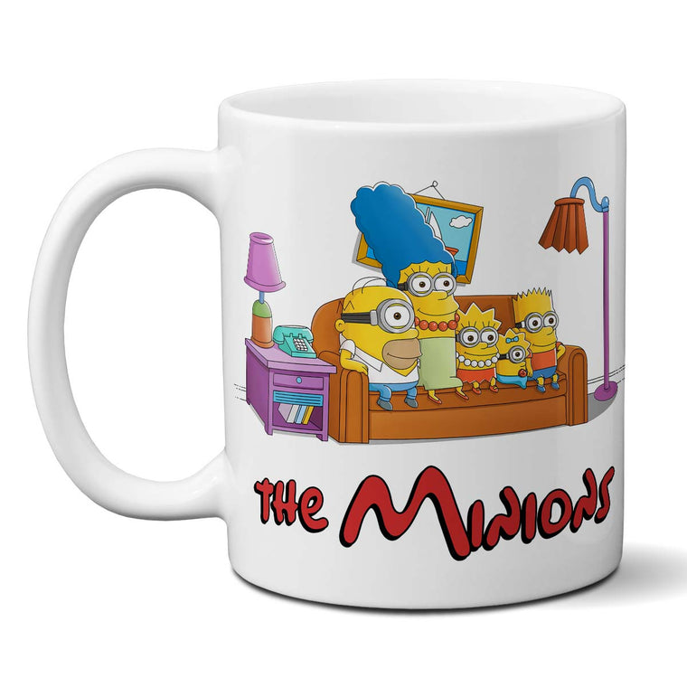 The Simpsons vs The Minions Mug