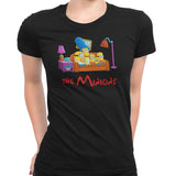 simpsons minions womens t-shirt black