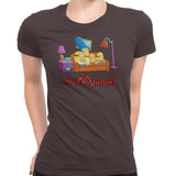 simpsons minions women's t-shirt brown