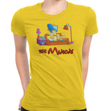 simpsons minions women's t-shirt yellow