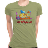 simpsons minions women's t-shirt green