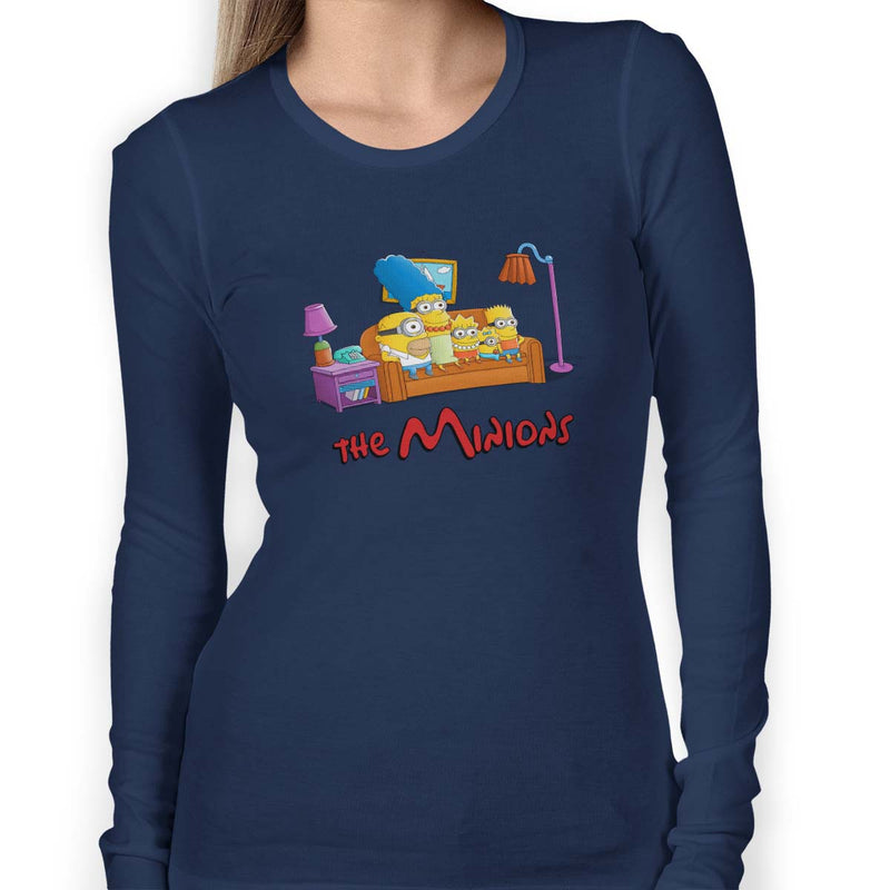 simpsons minions women's t-shirt navy