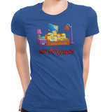 simpsons minions women's t-shirt blue