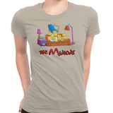simpsons minions women's t-shirt beige