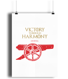 game of thrones arsenal fc poster