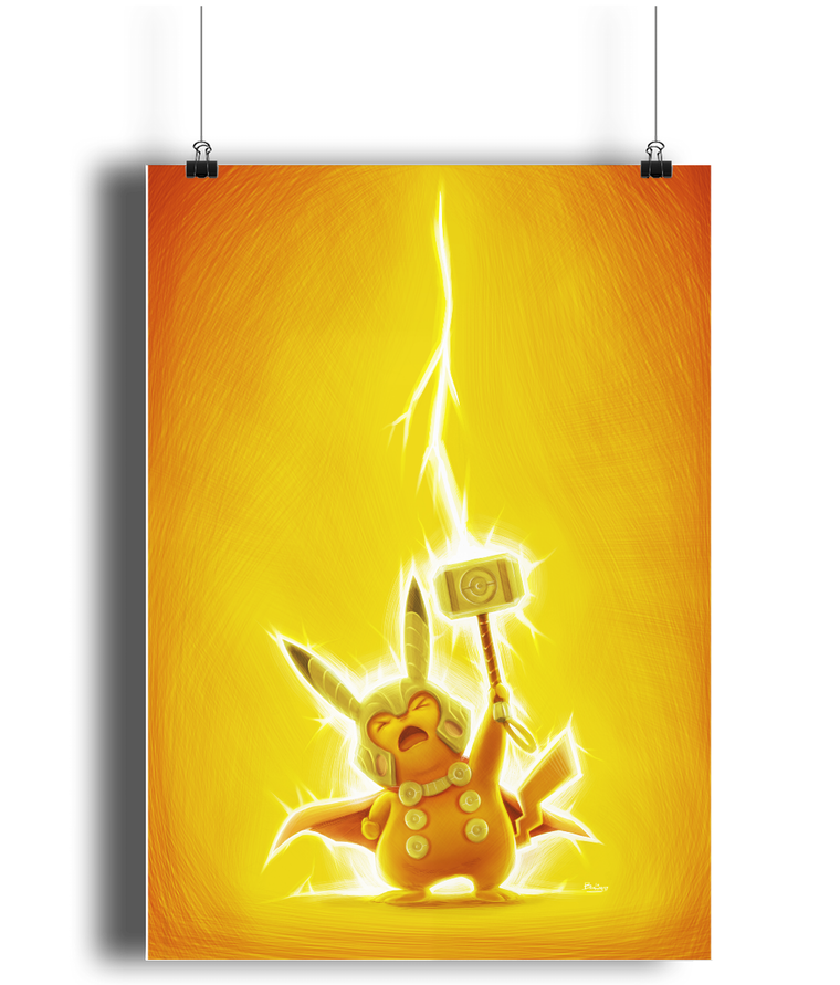 avengers pokemon pikathor poster