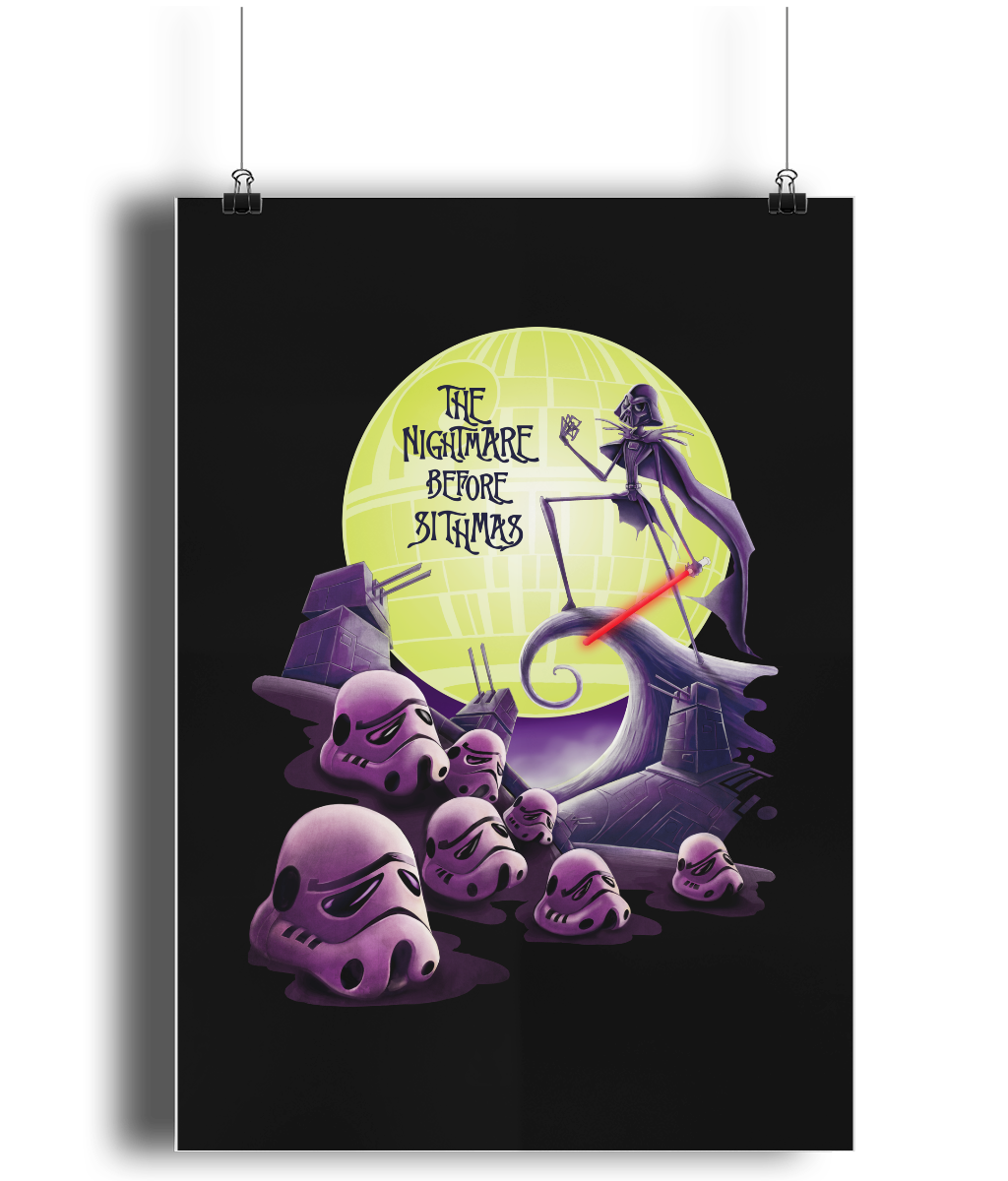 Star Wars The Nightmare Before Sithmas Poster – porcupus