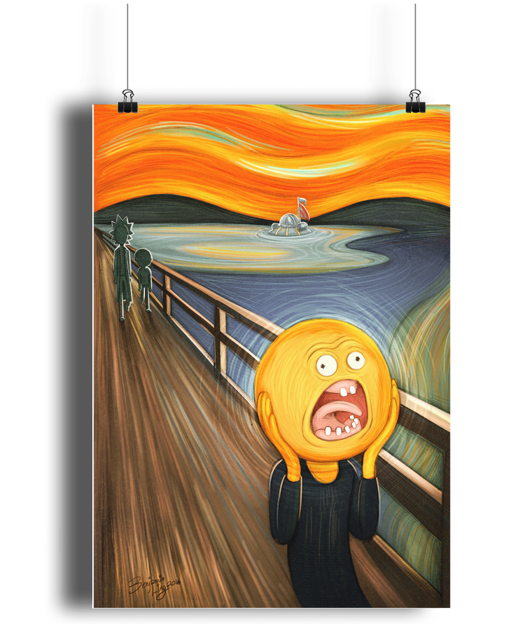 Rick & Morty Screaming Sun Poster