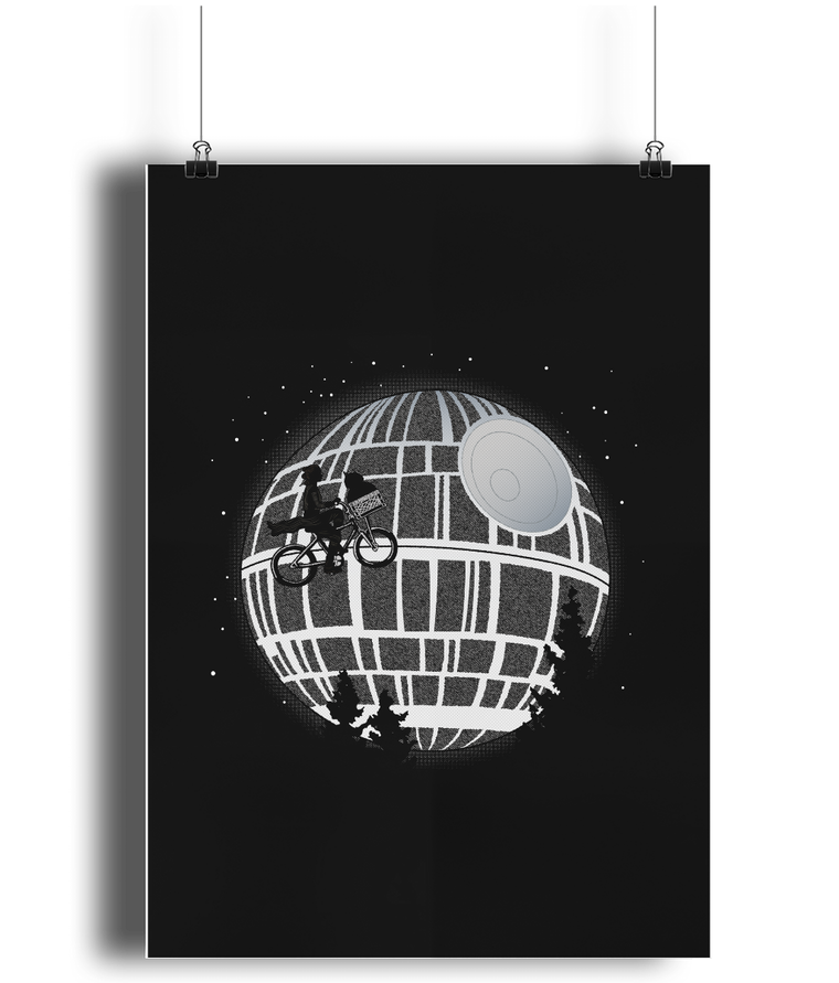 star wars death star poster