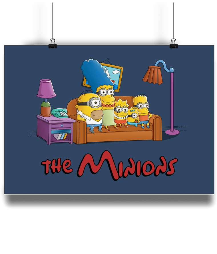 simpsons minions poster