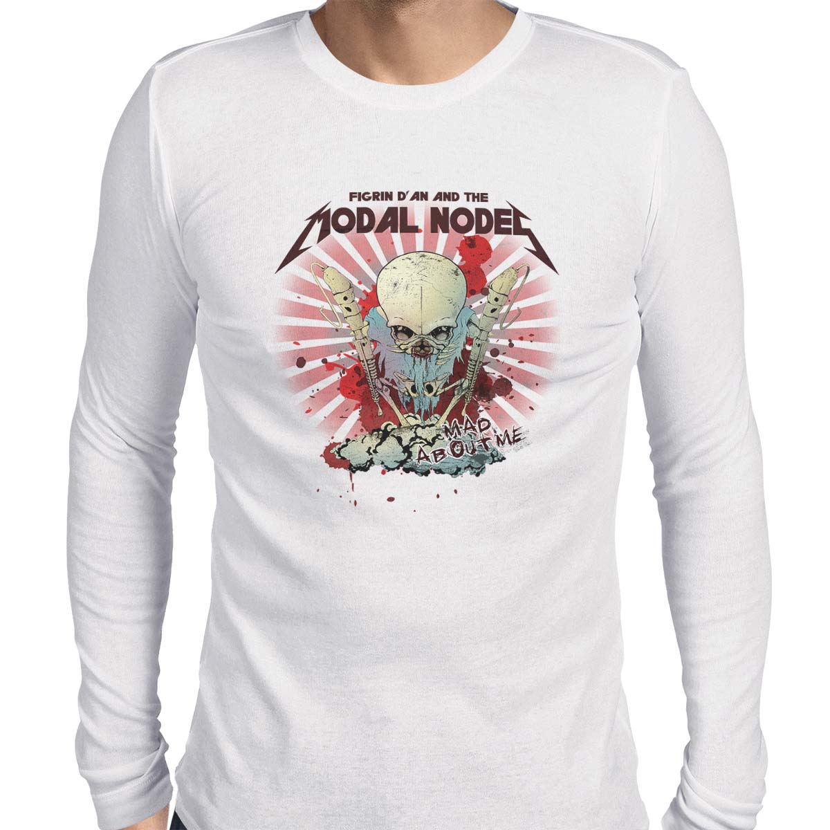 star wars modal nodes long sleeve white