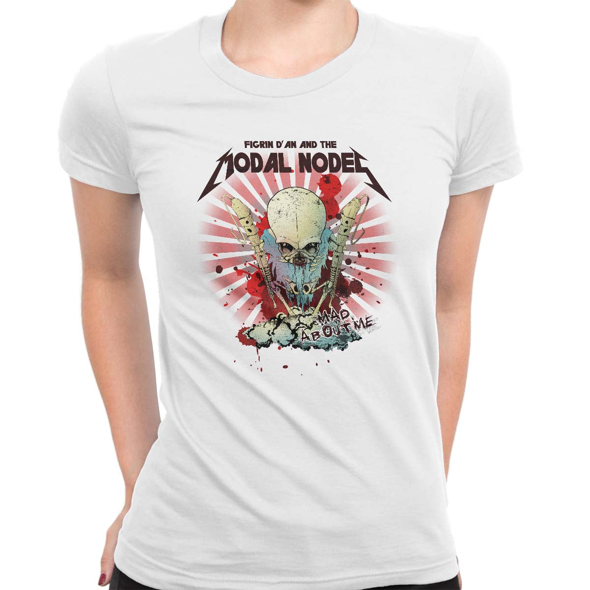 star wars modal nodes tee white